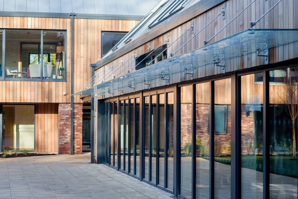 Delamere Health Ltd's courtyard