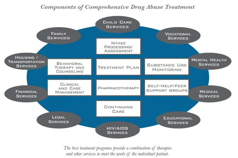 components of comprehensive drug abuse programmes